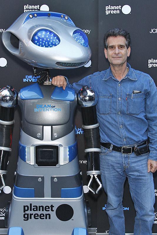 Dean Kamen with GEMO Social Robot