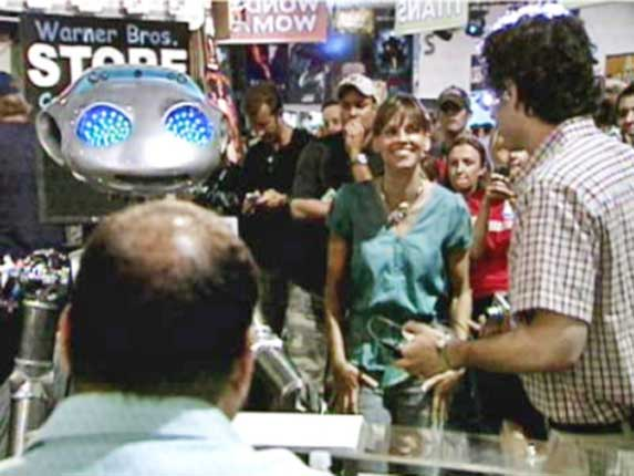 HILLARY SWANK WITH ROBOT SICO