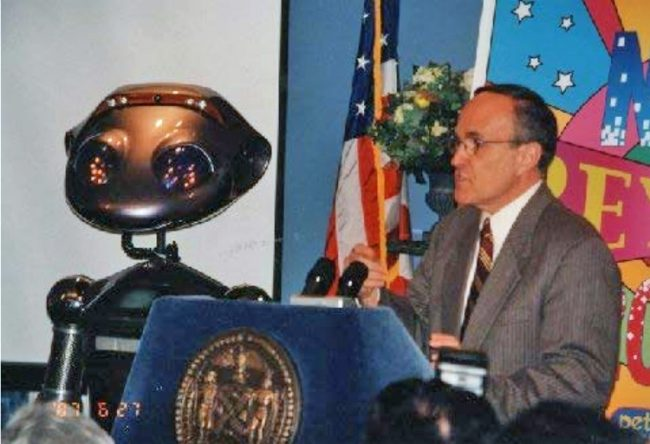Rudy Guiliani with Robot SICO