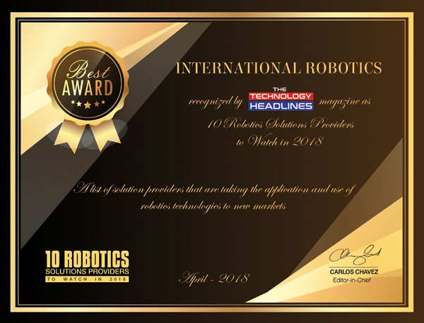TECHNOLOGY HEADLINES - International-Robotics-award-2018