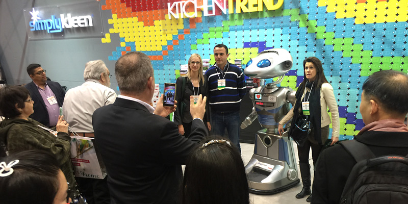 Rental Robot SICO at Product Promotion Exhibit