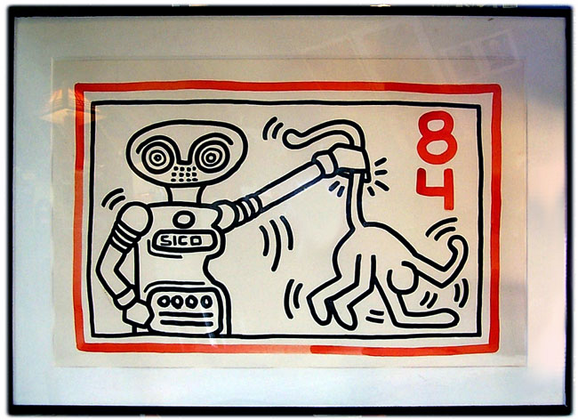 ROBOT SICO DRAWING BY KEITH HARING 1984