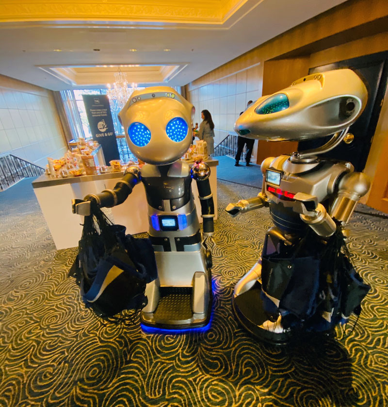 Robots at Event Marketing Party