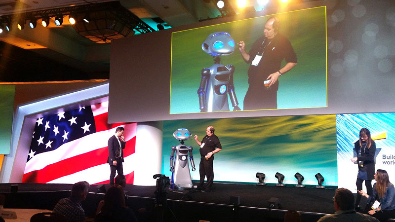 Keynote Speaker Robot Millennia Staged Event