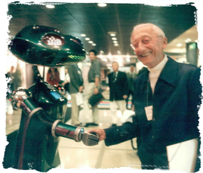 Robot SICO meeting Jacques Cousteau