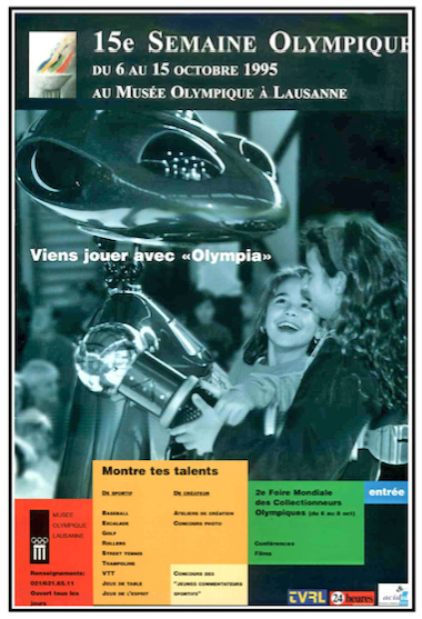 Robot Olympia & children at the Musee Olympique